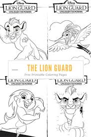Small Picture Free Coloring Pages Lion Guard