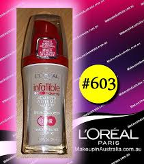 loreal infallible makeup liquid foundation 603 clic ivory