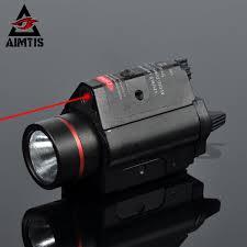 Aim Pistol Light Us 18 6 46 Off Aimtis Tactical Red Laser Flashlight Combo Aluminum Head Mini Glock Pistol Gun Light Lanterna Airsoft Light In Weapon Lights From