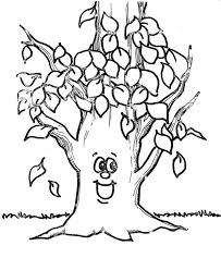 Small Picture Fall Leaf Happy Tree Fall Leaf Coloring Page HalloweenFall