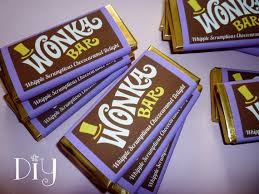 chocolate bar wrappers wonka bar wrappers wonka bar candy bar wrapper template willy etsy