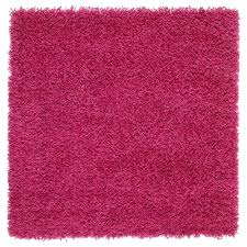 ikea hampen rug high pile bright pink new 803 480 54