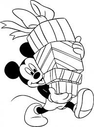 Small Picture Coloring Pages Mickey Mouse Christmas Coloring Page Disney