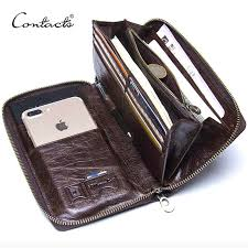 CONTACT'S men <b>clutch hot</b> sale genuine leather <b>long</b> wallet male ...