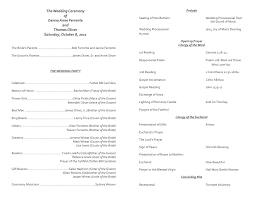 Catholic Wedding Ceremony Program Templates Catholic Wedding Program Template 7