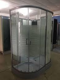 china horizontal stripe 5m door thickness tempered glass corner shower cabin 90 x 90 x 200