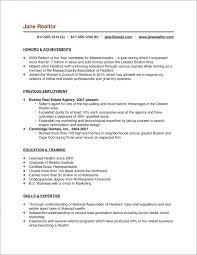 Real Estate Salesperson Resume Sample 1 Sample Real Estate Agent