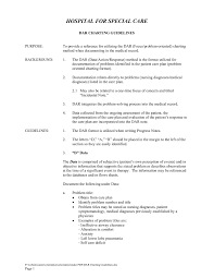 Nursing Charting Guidelines Dar Charting Guidelines Hospital For Special Care Pages 1