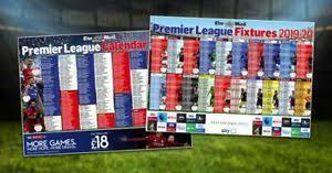Premier League Wall Chart Details About Mail On Sunday Premier Football League 2019 20 Wall Chart 2 Sided New Season