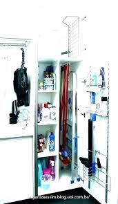 cleaning closet organization broom storage ideas utility cabinet outdoor mop and stora