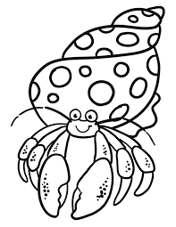 Small Picture Hermit Crab Coloring Page RedCabWorcester RedCabWorcester