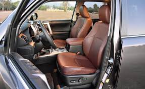 nydn 2017 toyota 4runner limited brown leather front seats