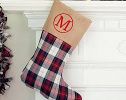 Plaid stocking | Etsy
