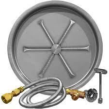 firegear 25 inch round burning spur natural gas fire pit burner kit match light