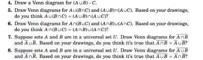 Venn Diagram A U B Solved 4 Draw A Venn Diagram For A U B C 5 Draw Venn