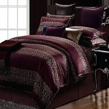 leopard duvet cover blue purple stripe cotton comforter bedding set king size queen satin duvet cover