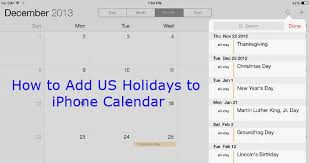 How To Add Us Holidays To Iphone And Ipad Calendar In Six Simple Steps