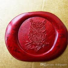 vintage owl wax seal stamp gold plated owl