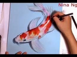realistic koi fish drawing. Perfect Drawing To Realistic Koi Fish Drawing T