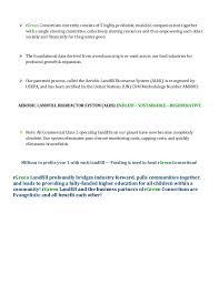 Executive Sumary Mini Executive Summary Rgreen Landfill