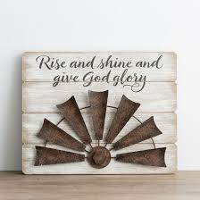 give glory wood metal wall art