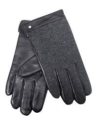 mens fine leather woolmix leather gloves with fleece lining 75 0013 image 1