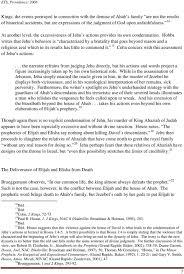 The Motif Of Life And Death In The Elijah Elisha Narratives