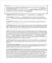 Sample Basic Lease Agreement 9 Examples In Word Pdf
