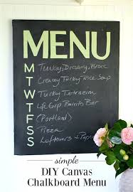 simple and easy diy canvas chalkboard