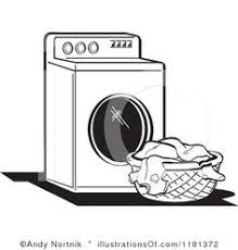 drying clothes clipart black and white. Delighful White Laundry Basket Illustration  RoyaltyFree RF Clipart  By Andy Nortnik In Drying Clothes Black And White S