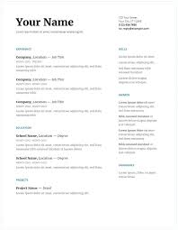 Resume Templates Google Docs Entry Level Resume Template Sample ...