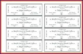 Benefit Ticket Template Raffle Ticket Template