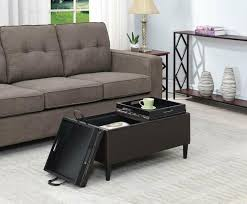 coffee table ottoman storage organizer