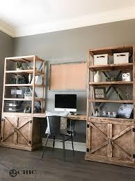 Chic office furniture Feminine Diyofficefurniture Shanty Chic Diy Office Desk System Shanty Chic