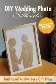 create this diy wedding picture silhouette for a traditional first anniversary gift using paper