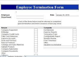 employee termination form template employee termination template excel templates pinterest template