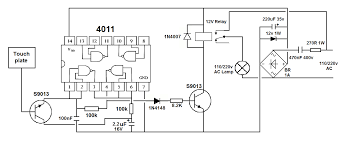 Touch Switch For Lamp 220v On Off Latching Touch Switch With Only One Touch Plate