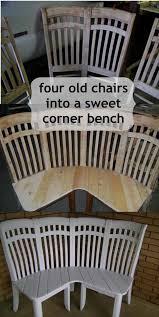 unique diy furniture. unite old chairs into a unique corner bench diy furniture u