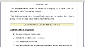 Representation Letter To Insurance Company Youtube