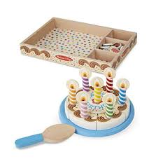 melissa doug birthday party cake wooden play food with mix n match