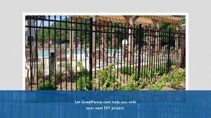 save more money on aluminum fence installation from greatfence com