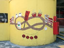 singapore street art chinatown complex liondance on wall mural artist singapore with where to find street art in singapore chinatown the occasional