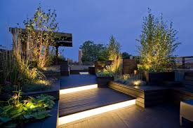 rooftop lighting. rooftop lighting deck contemporary with roof garden tiles and planks r
