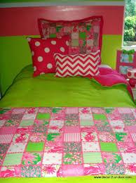 bedding lilly pulitzer bedding preppy pink and green patchtastic custom dorm duvet cover king dean miller target