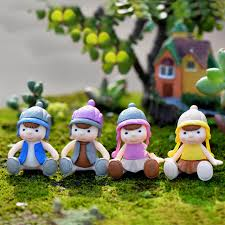 4pcs sweety couple figurines miniatures fairy garden gnome moss terrariums resin crafts decoration accessories