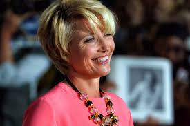 How to cut curly bangs. Emma Thompson Reflects On Life Loss And Resilience