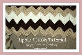 Crochet Ripple Afghan Pattern Cool Amy's Crochet Creative Creations Crochet Ripple Afghan With Video