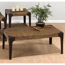 vintage rectangle solid wood coffee table and side table coffee ideas with corner metal cover