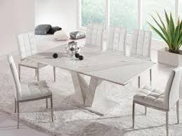 White Grey Marble Dining Table Set Dining Table Design Ideas