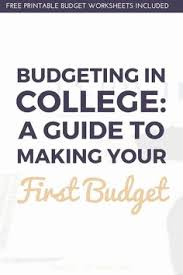 how to budget as a college student music festival budget spreadsheet unique college student bud best